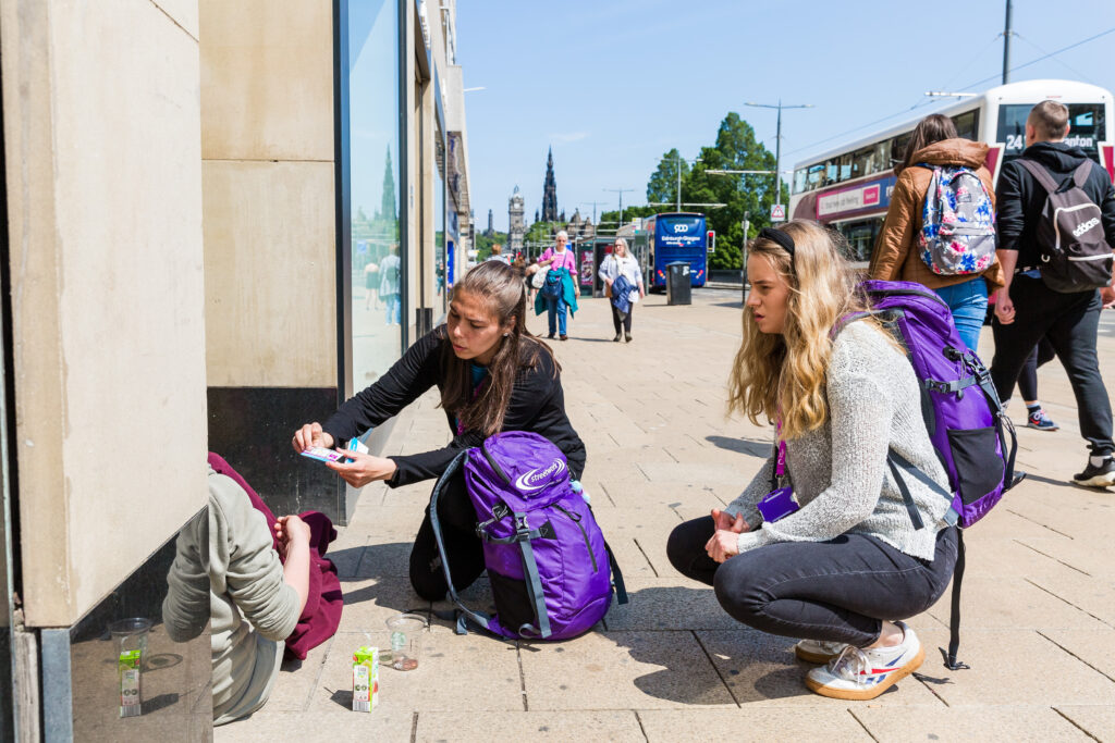 Our Edinburgh Street Team supporting people out and about.