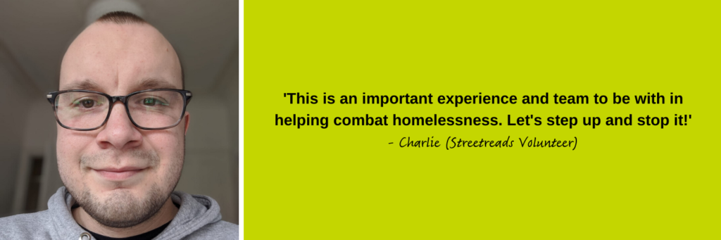Charlie, our Streetreads volunteer describes what they love about volunteering at Simon Community Scotland