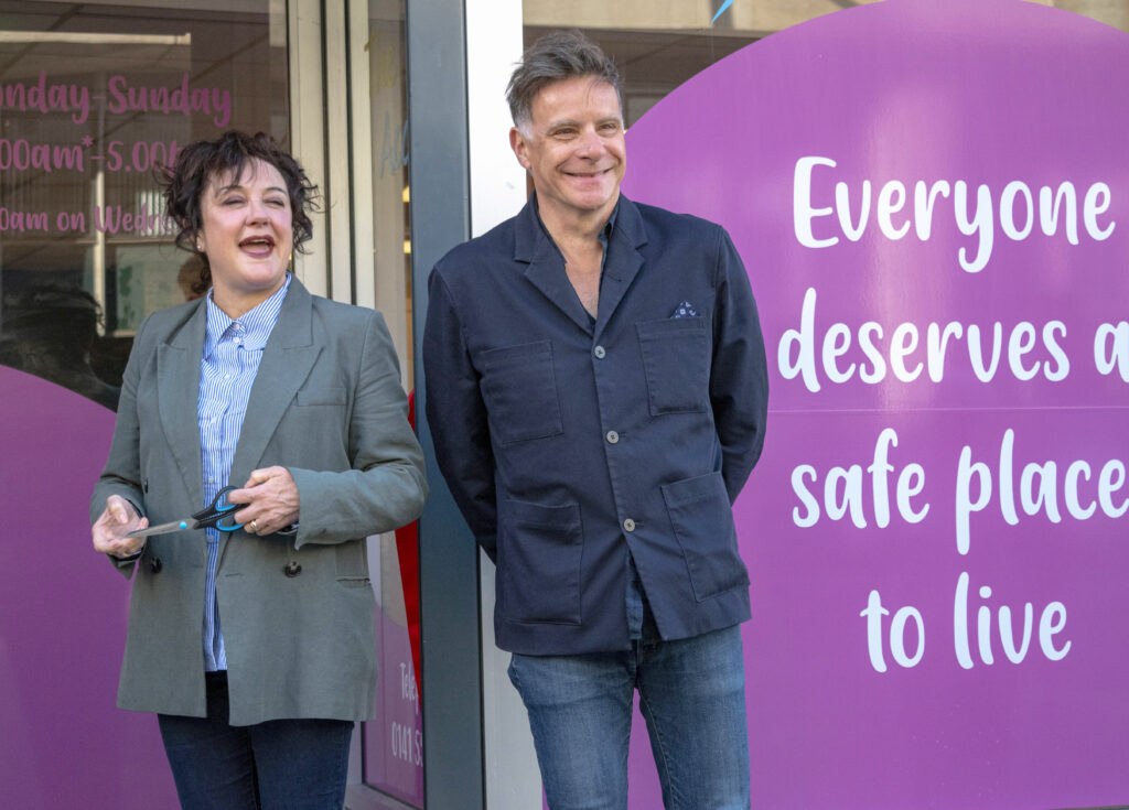 Lorraine McIntosh and Ricky Ross of the band, Deacon Blue, at the opening of the Access Hub