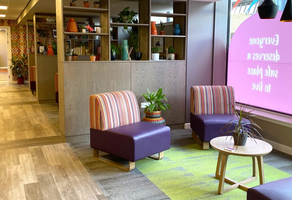 A calm and healing space at the Access Hub