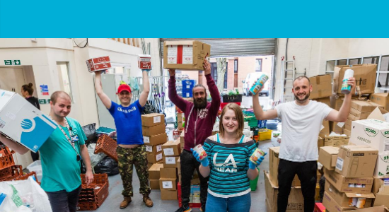 Our volunteers at our warehouse
