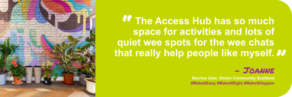 Quote from Joanne, long-time service user